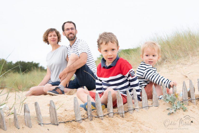 photo famille oléron plage